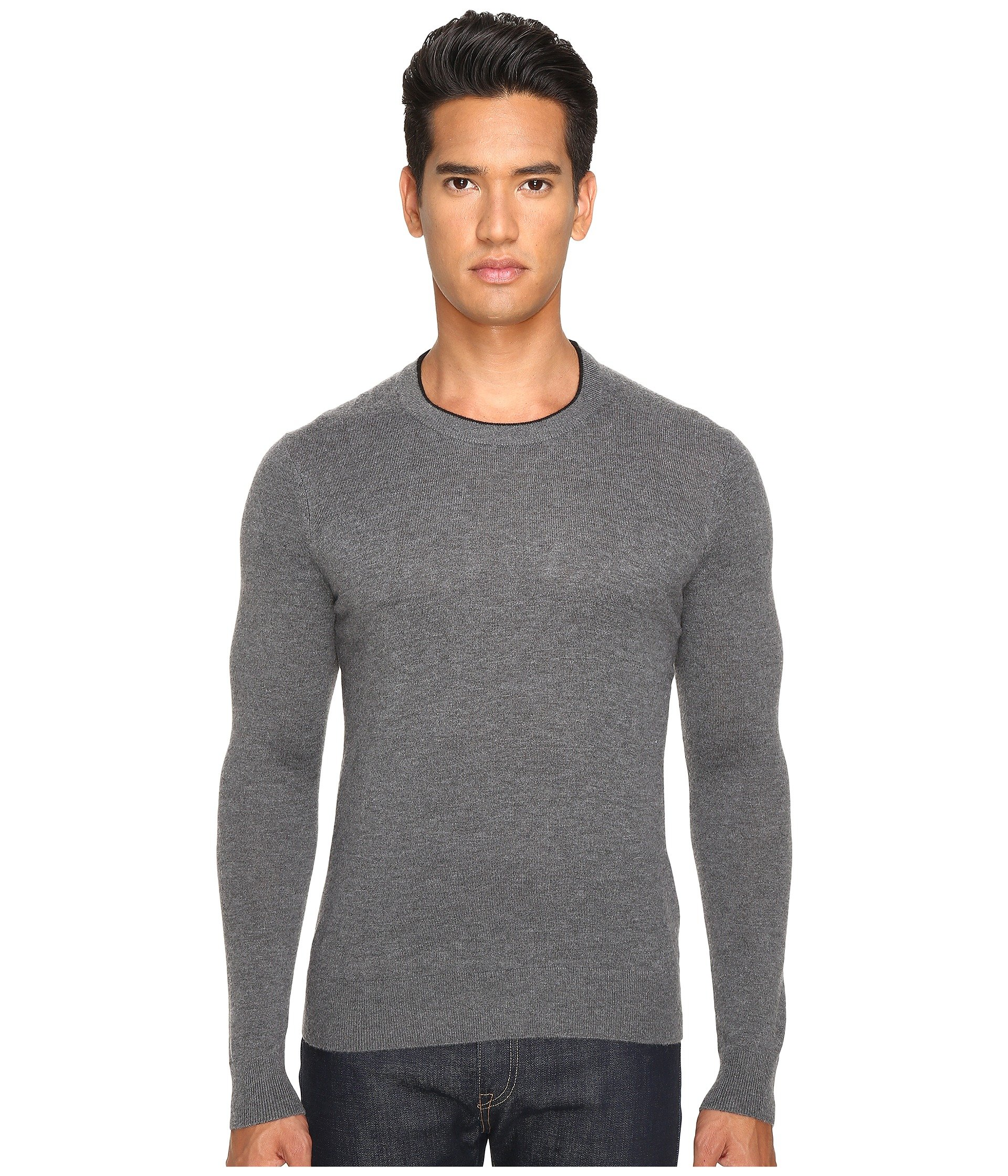 JACK SPADE Jersey Stitch Crew Neck Sweater, Grey