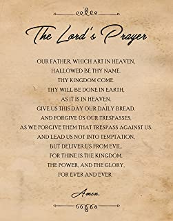 Original The Lord's Prayer Quote Poster Prints, Set of 1 (11x14) Unframed Picture, Great Wall Art Decor Gifts Under 15 for Home, Office, Garage, Man Cave, School, Student, Teacher, Mentor, Coach, Fan