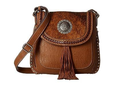 M&F Western Ella Messenger (Brown) Messenger Bags