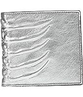 Alexander McQueen - Metallic Ribcage Bifold Wallet