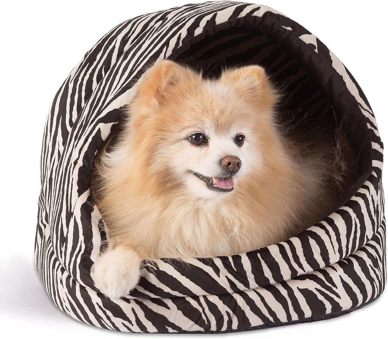 Best Friends by Sheri KITZOOZBK Pet Cave in Zoo, Zebra Black, 18  X 16  X 15