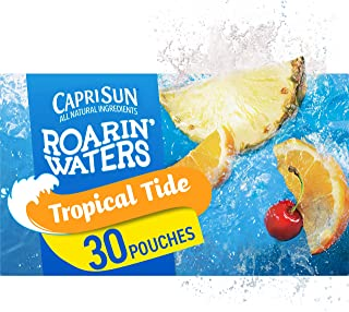 Capri Sun Roarin' Waters Tropical Fruit Ready-to-Drink Juice (30 Pouches, 3 Boxes of 10)