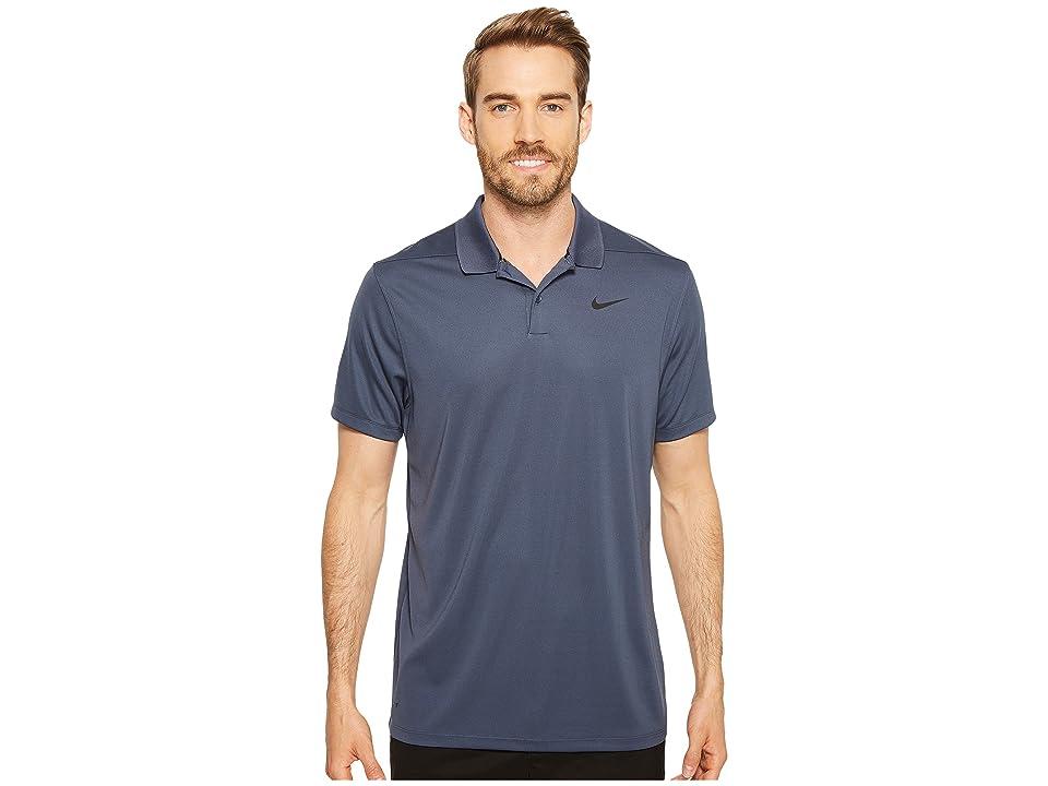 Nike Golf Dri-FITtm Victory Polo (Thunder Blue/Black) Men