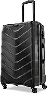 American Tourister Arrow Expandable Hardside Luggage, Black, Checked-Medium 24-Inch
