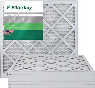 Best FilterBuy 20x20x1 MERV 8 Pleated AC Furnace Air Filter, (Pack of 6 Filters), 20x20x1 – Silver Review