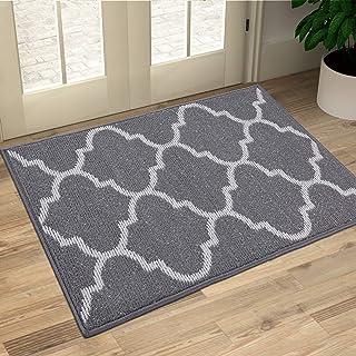 OLANLY Indoor Doormat, 20x32, Non-Slip Absorbent Resist Dirt Entrance Rug, Machine Washable Low-Profile Inside Floor Mat A...