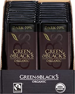 Green & Black's Organic Dark Chocolate (20 total bars) 70% Cacao Bars