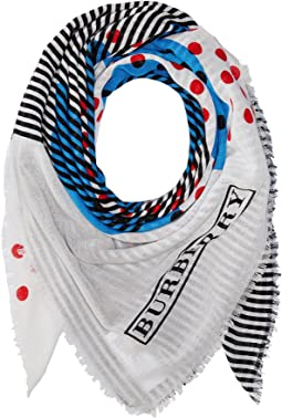 Burberry Kids - Stripe Dot Print Scarf