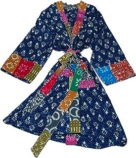 Art Studio Company Batik Block Print Cotton Robe Long