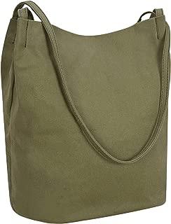 Bucket Bag Iswee Canvas Handbags Shoulder Bag Hobo Casual Tote for Women