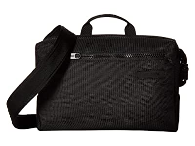 Pacsafe Intasafe Sling Anti-Theft Crossbody Pack (Black) Cross Body Handbags