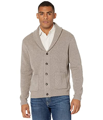 J.Crew Merino Nylon Shawl Cardigan (Heather Bark) Men