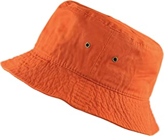 6905964fc0a80 THE HAT DEPOT 300N Unisex 100% Cotton Packable Summer Travel Bucket Beach  Sun Hat