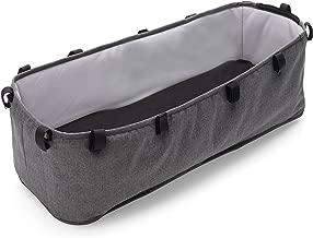 Bugaboo Donkey2 Bassinet, Grey Mélange – Designer Fabrics for Your Bassinet! Complete Your Double Stroller for Infant Twins!