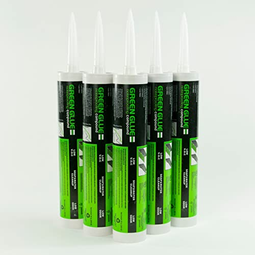 Green Glue Noiseproofing Compound - 6 Tubes,net wt 28 fl.oz(828 ml)
