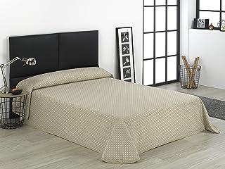 comprar comparacion SABANALIA - Colcha Niza (Disponible en Varios tamaños) - Cama 150-250 x 280, Blanco