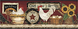 Best rooster wallpaper borders kitchen Reviews