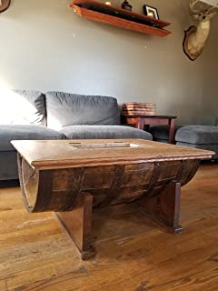 Barrel Table or Coffee Table with a Hidden Concealed Compartment. Allows Easy Access to Your Right to Bear arms or Hide valuables in Plain Sight.