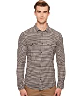 Vince - Micro Plaid Long Sleeve Button Down