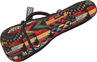 "MUSIC FIRST Cotton Woven""THE NATIVE"" Vintage Style Ukulele case Fit for 26~27 inch Tenor Ukulele multi-colored WSDM052TheNative26"