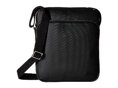 Lacoste Small Classic Crossover Bag (Black 1) Cross Body Handbags