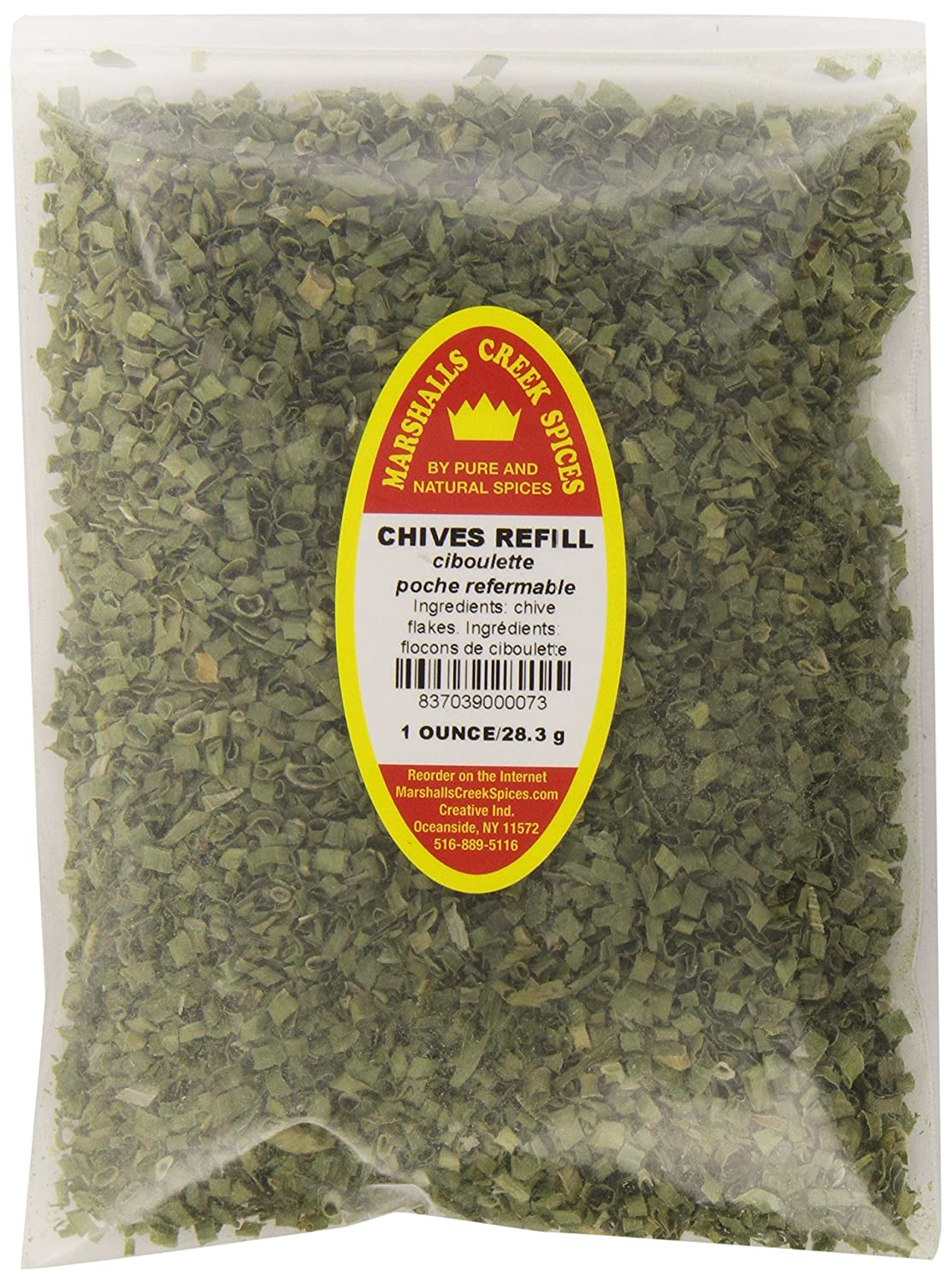 CHIVES REFILL - FRESHLY PACKED IN Elegant SEALED POUCHES GRADE Translated FOOD HEAT
