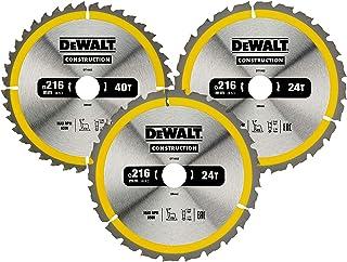 DEWALT Cirkelsågblad set DT1962 (för stationära sågar, sågblad ø: 216/30 mm, skärbredd: 2,6 mm, 24/40 tänder, växeltandgeo...