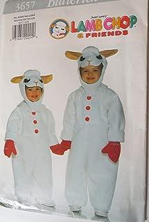 Butterick Pattern 3657 Shari Lewis Lamb Chop Costume Vintage Sewing Pattern Size XS-S-M-L