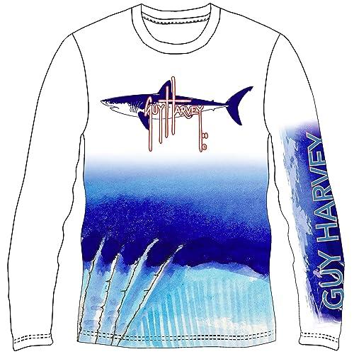 c5f17bff4128 Guy Harvey Mako Shark UVX Pro Long Sleeve Performance T-Shirt