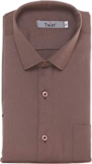 Twist Men's Italian Cotton Solid Half Sleeve Shirt