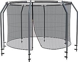 Ampel 24 Veiligheidsnet voor luxe trampoline Ø 305 cm, compleet net met 8 palen en beschermring, intern scheurvast vervang...