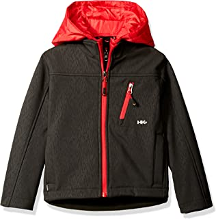 Hawke & Co. Boys' Soft Shell Jacket with Quilted Vestee and Hood