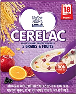 Nestlé Cerelac Infant Cereal Stage 5 - 300 g (5 Grains and Fruits)
