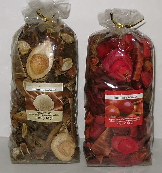Luminessence Scented Potpourri 2 4 Oz Bags Apple Cinnamon Vanilla