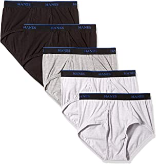 Hanes mens Ultimate ComfortBlend Briefs with FreshIQ 5-Pack Briefs