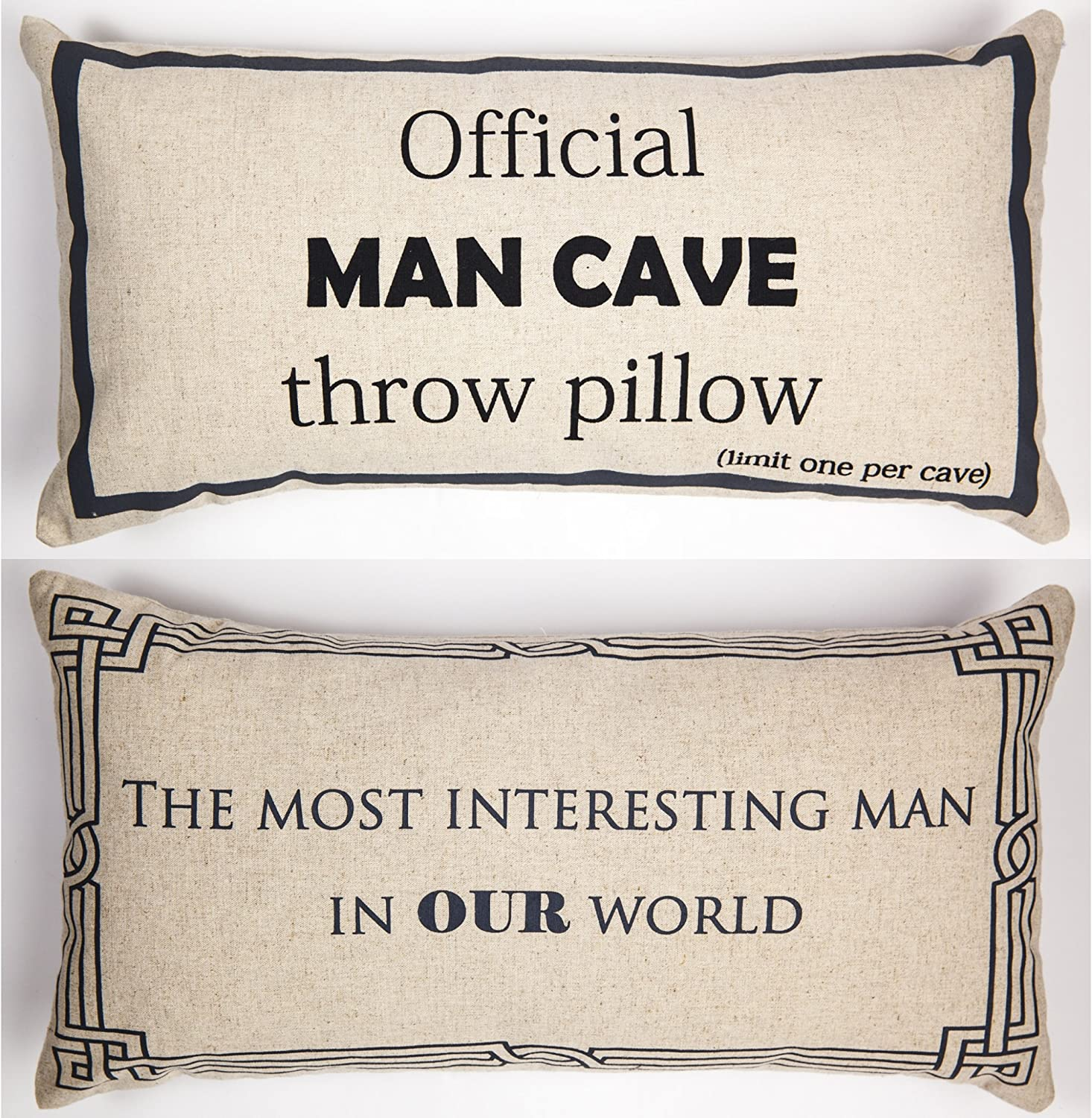 Mancave Gift for Him Message Throw Pillow