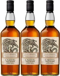 Cardhu Gold Reserve Haus Targaryen Game of Thrones Whisky, 3er Set, Schnaps, Alkohol, Single Malt, 40%, 3 x 700 ml