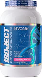 Evogen Isoject | Premium Whey Isolate w/ Enzymes | Strawberry Smoothie | 28 Servings