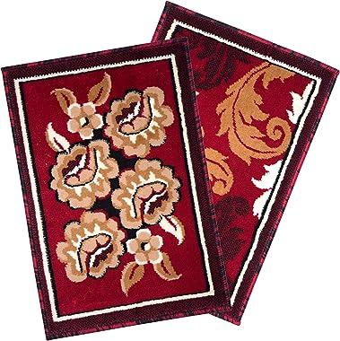 Carpet Galore Floral Design Set of 2 Doormats Size -40x60cm (Combo 4)