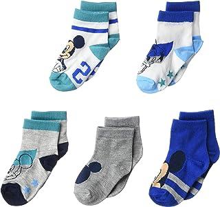 Disney Mickey Mouse Baby 5 Pack Shorty Socks