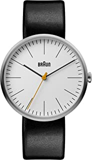 Braun Mens Analogue Classic Quartz Watch with Leather Strap BN0173WHBKG