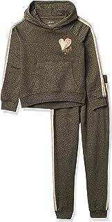 DKNY girls 2PC PULLOVER HOODIE W/ JOGGER SET Sweatshirt