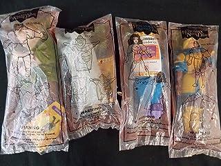 """Burger King The HUNCHBACK OF NOTRE DAME 10"""" Finger Puppet, Set of 4: Hugo, Quasimodo, Esmeralda and Phoebus, NEW, VINTAGE"""