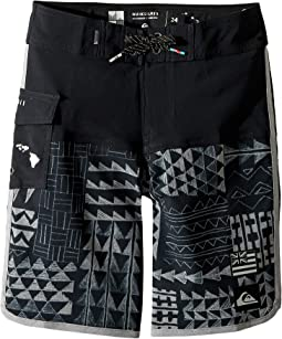 Quiksilver Kids - The Scallop Hawaii Boardshorts (Big Kids)