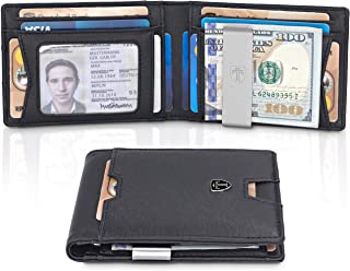 TRAVANDO Slim Wallet with Money Clip AUSTIN RFID Blocking Card Mini Bifold Men