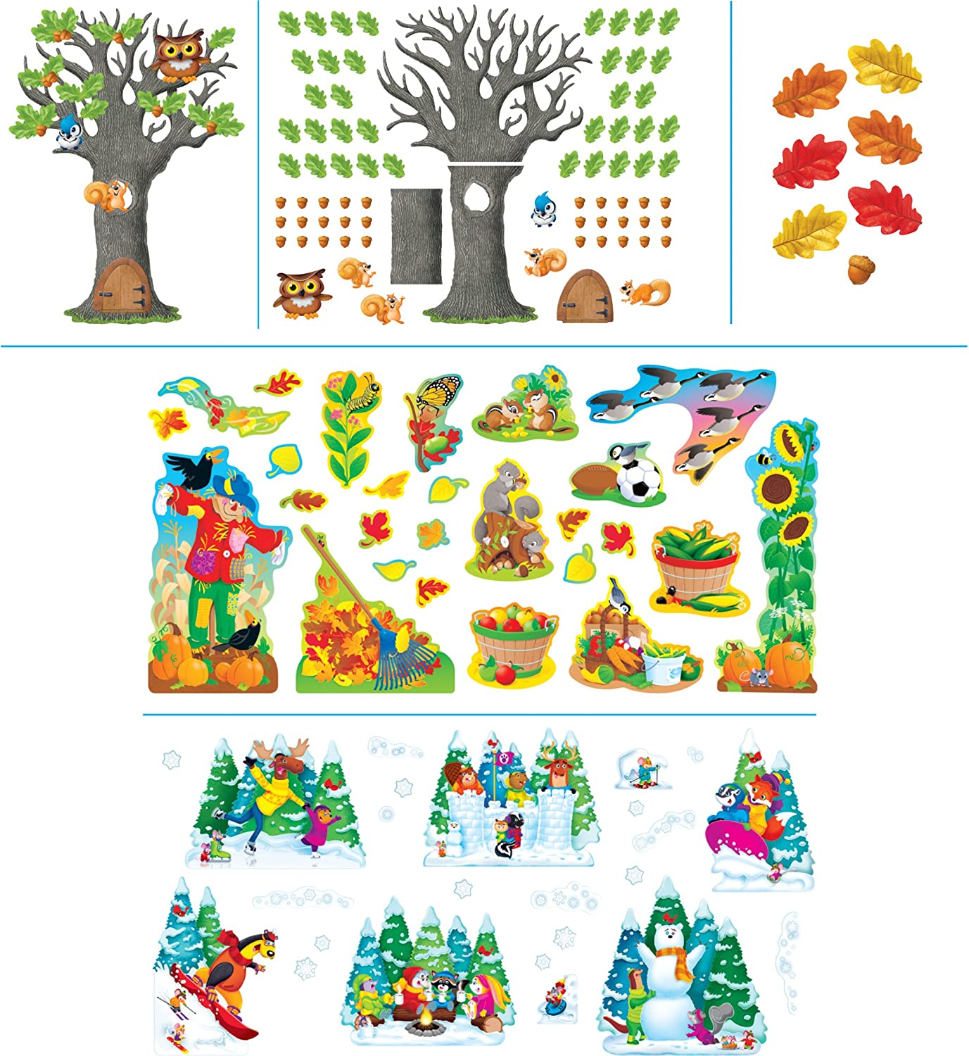 Trend Enterprises T90894 School Year Seasons Room Decor Assortment, 235 Pieces