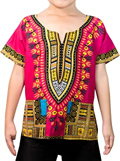 KlubKool Kids Dashiki Shirt Tribal African Children Boys Girls Shirts