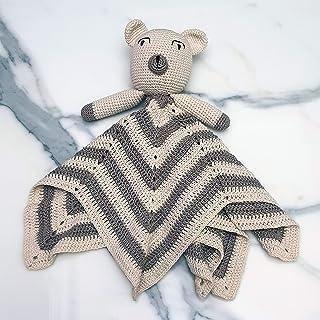 Ranimar Crochet Baby Security Blanket Toy Toddler 100% Handmade for Boy Girl