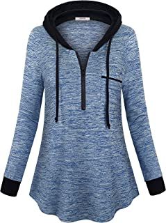 Vivilli Ladies Shirts for Women Long Sleeve Pullover Hoodies Tops