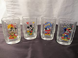 Square 2000 Walt Disney World Mickey Mouse Glasses-Set of 4
